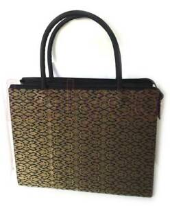 Handbag-Gold-Black-Songket-New