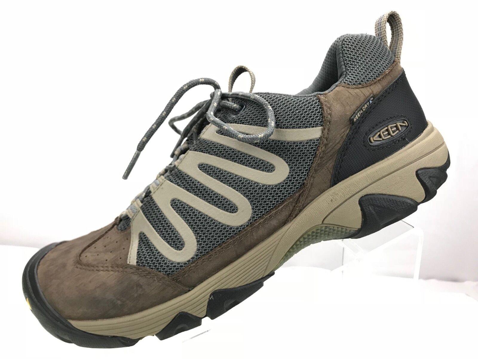 Keen Verdi WaterProof  Walking Hiking Strolling Sneakers Mens 10 Brown Grey  100% price guarantee