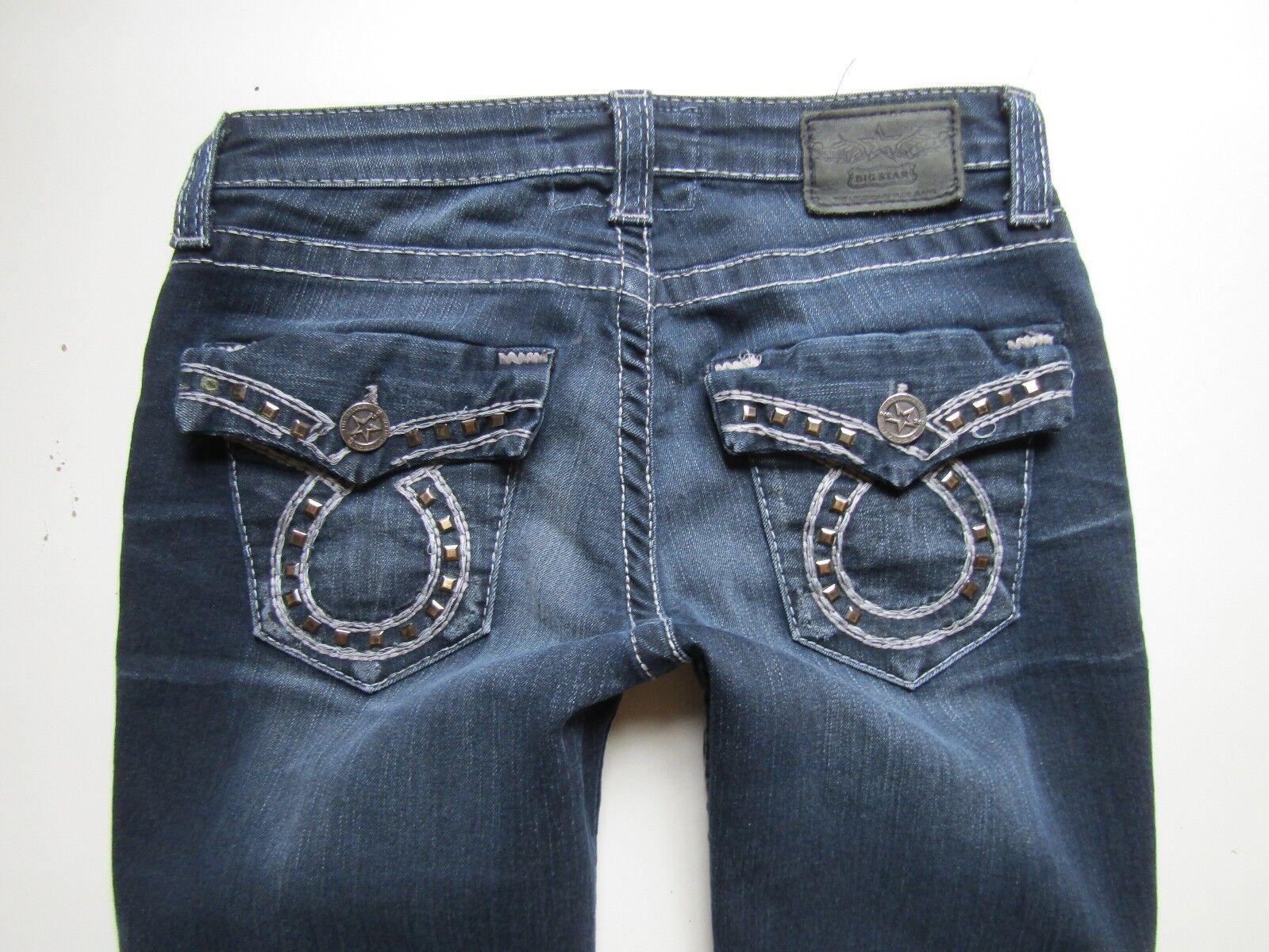 BIG STAR Miki Low Rise Boot Cut Jean, Dark Wash - Size 25 x 30 Short
