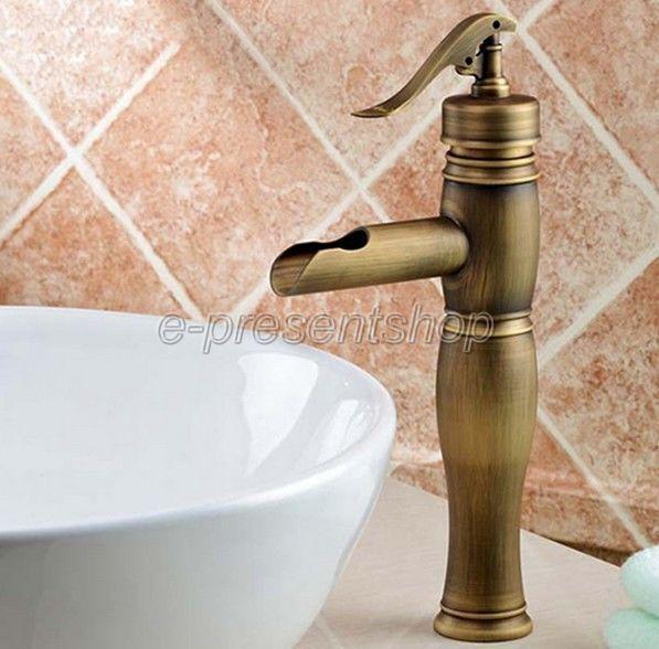 Nouveau  Pompe à eau Look  Style Laiton antique salle de bains navire robinet d'évier Bnf002