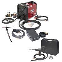 Lincoln Power Mig 210 Mp Welder W/ Tig Kit & Spoolgun (k4195-2, K3269-1)