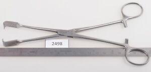 #2498 + Aesculap Eo164r Crochet Pince/stérilets Tenakulum Forceps, 4x4, 200 Mm-afficher Le Titre D'origine