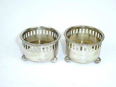 Sweet-Tempered Two Salzieren Um 1900 Marked Salt Pot Salt Bowl Decorative Arts Other Antique Decorative Arts