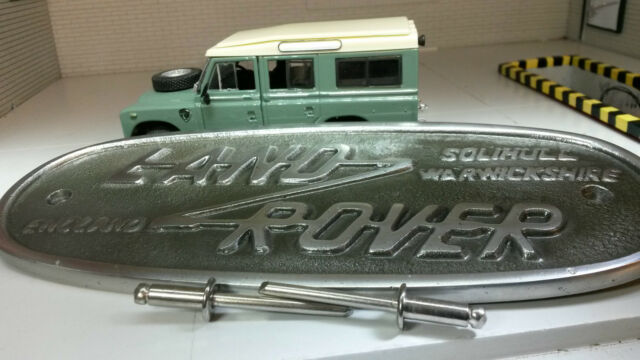 Land Rover Series 2 2a 3 Cast Aluminium Grill/Grille Tub Badge Solihull 332670
