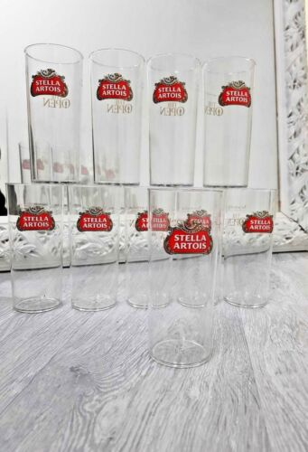 NEW Stella Artois hard plastic half pint glasses x 36 brand new SUMMER OFFER!!!!