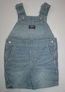 New OshKosh Girls Blue Heart Bib Pocket Overalls Vestbak Shorts 3T 4T 5T Rainbow