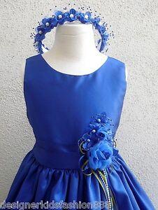 NEW-ROYAL-COBALT-BLUE-BABY-TODDLER-TEEN-WEDDING-PAGEANT-FLOWER-GIRL-DRESSES