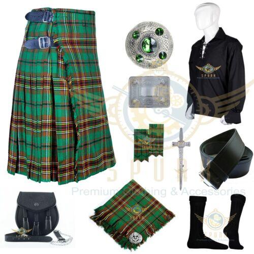 Men/'s Handmade Scottish 8 Yard KILT Traditional Tartan 8 yard KILTS Package