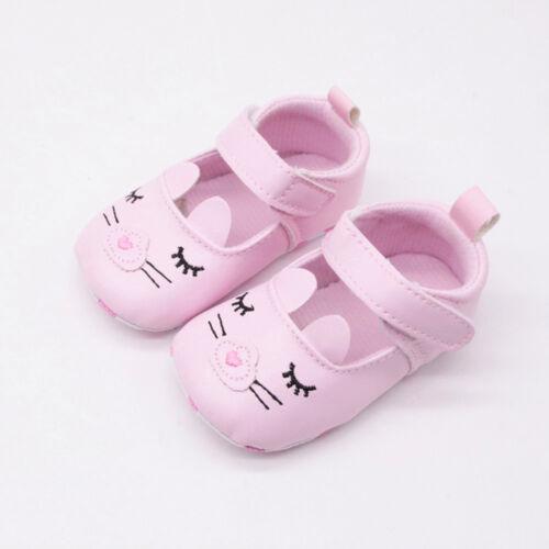 Cute Newborn Baby Girl/&Boy Soft Soled Smiley Face Print Footwear Crib Shoes HOT