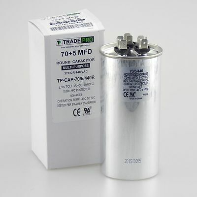 35//5 MFD uf Dual Run Capacitor 370 OR 440 VAC volts AC 35 5 TradePro pc