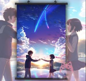 Kimi no na wa poster Japanese Anime Movie Mitsuha Taki Shinkai Your Name