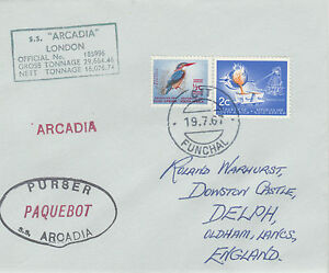 South Africa 4413- Used in FUNCHAL, PORTUGAL 1968 PAQUEBOT cover to UK