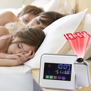 Digital-Kombi-Innen-Wetterstation-Projektor-Thermometer-Hygrometer-Uhr-Wecker