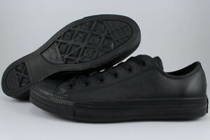 f95d49baaefe4f CONVERSE ALL STAR CHUCK TAYLOR OX LEATHER TRIPLE BLACK MONO CLASSIC ...