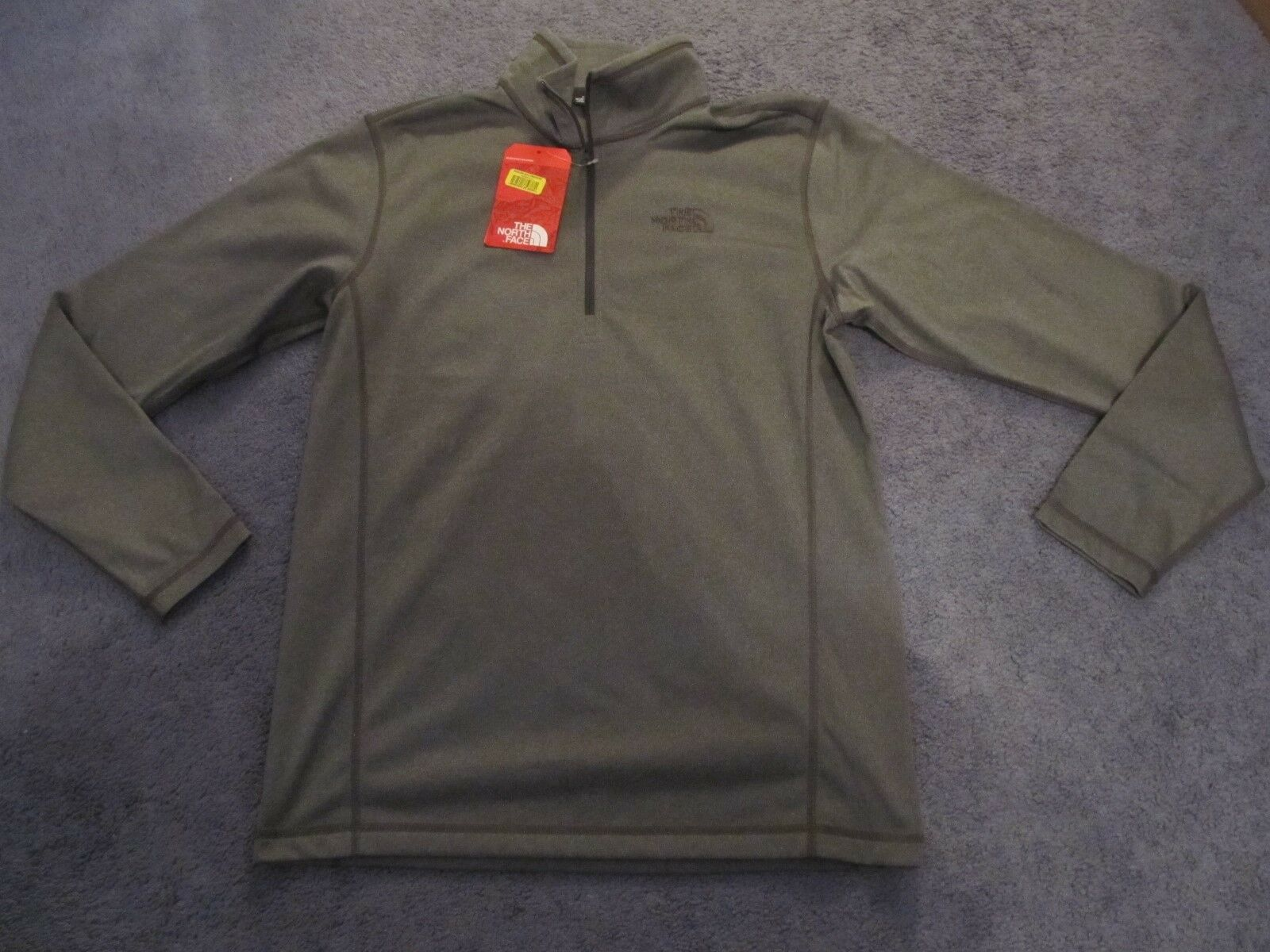 545d732cd With Tags The North Face Tech Glacier 1/4 Zip Jacket Gray Fleece Small