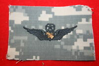 GENUINE US ISSUE ARMY MASTER AVIATOR ASTRONAUT WING BADGE ON ACU CAMO