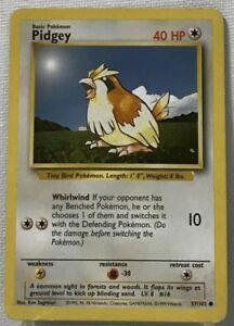 Pokemon-Pidgey-57-102-Base-Set-COMMON-Card
