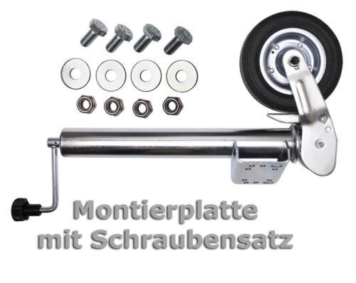 PKW Anhängerstützrad Automatik Trailer Bugrad Hänger Stützrad Wohnwagen Stütze