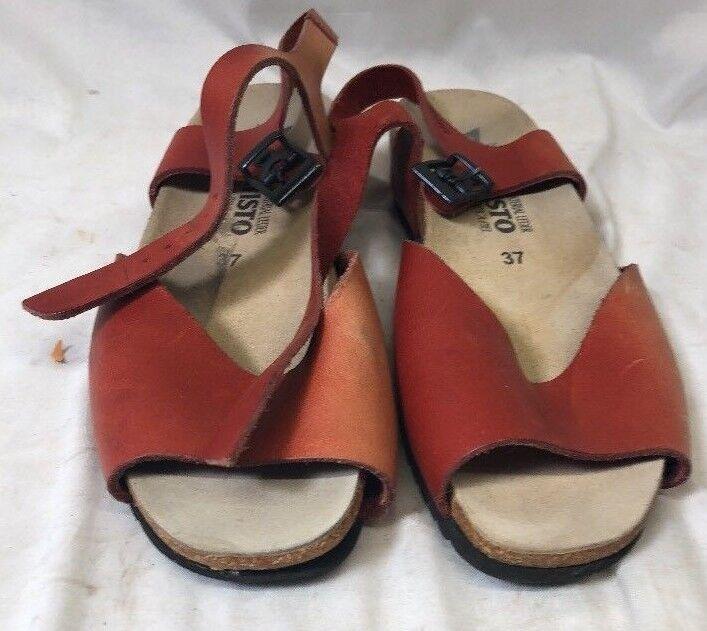 Mephisto Hanka Na Slide Tan Slip On Comfort Sandals Women's Size 37 US 7