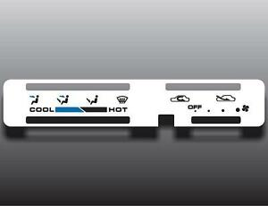 1986-1995-Suzuki-Samurai-Round-Vent-White-Heater-Control-Switch-Overlay-HVAC