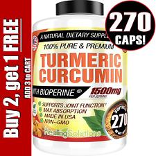 Turmeric Curcumin 1500 MG Ultra High Absorption Extra Strength 270 Capsules