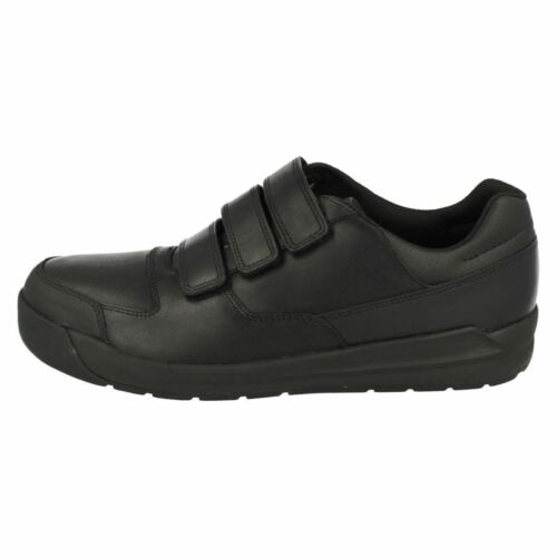 Clarks Bootleg Monte Lite BL Black Leather School Shoes