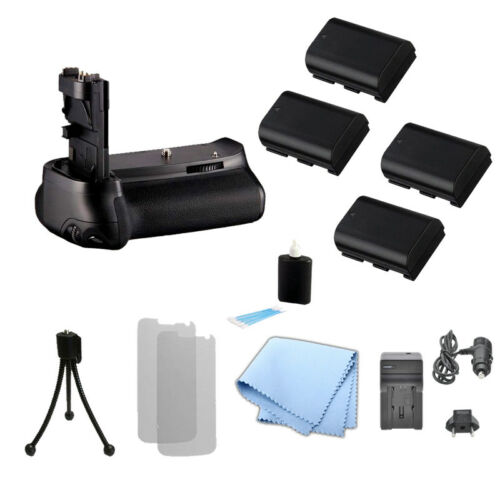Battery Grip for Canon BG-E13, 6D Camera + 4 LP-E6 /LP-E6N Battery + Charger