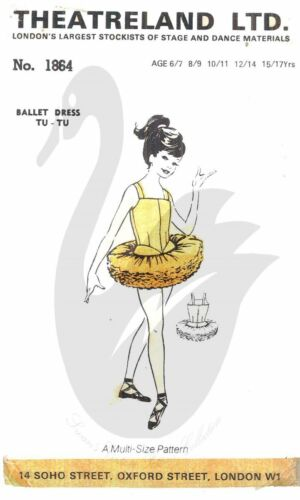 Reproduction Theatreland Ltd Tutu Ballet Costume Sewing Pattern Size 6-17 yrs