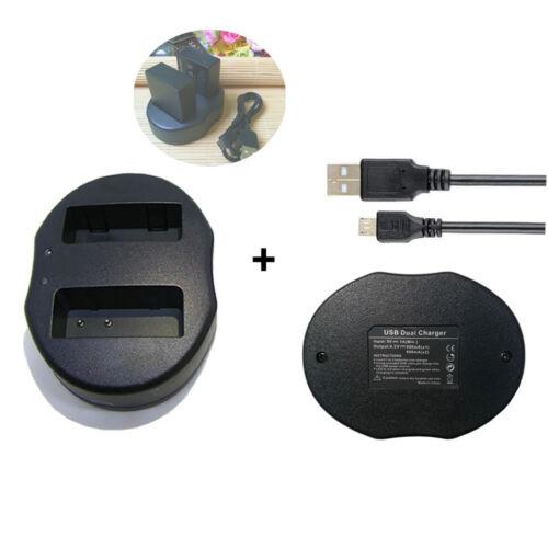 Battery DUAL USB Charger for Panasonic DMW-BLC12E DMW-BLC12PP  Lumix DMC-GH2H