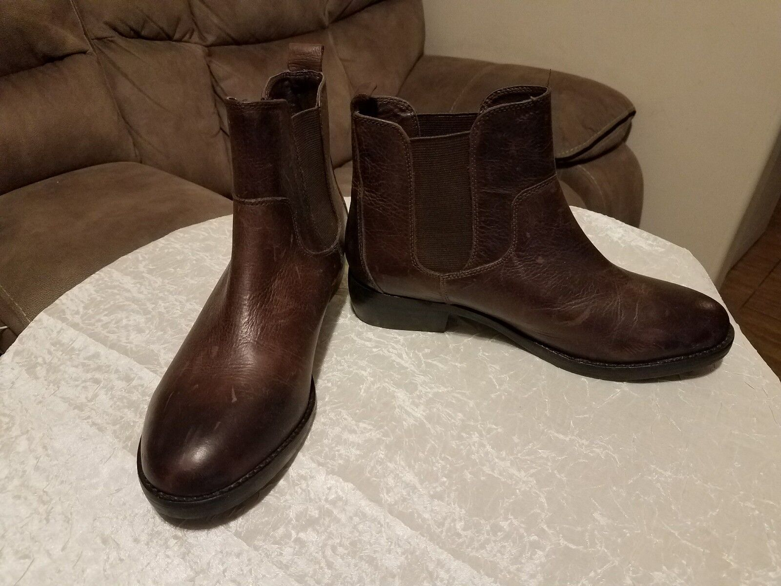 Womens Shellys London Boots, leather, brown  size 9