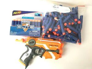 Nerf-Firestrike-Blaster-Elite-with-98-Blue-Ammo-Some-Ammo-Still-New-In-Box