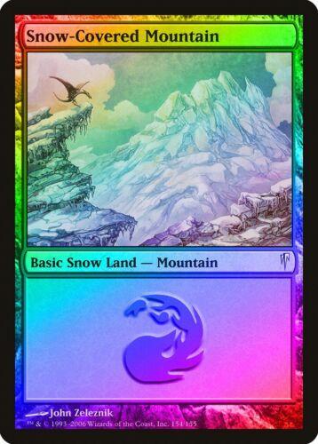 Snow-Covered Mountain FOIL Coldsnap PLD-SP Basic Land MAGIC MTG CARD ABUGames