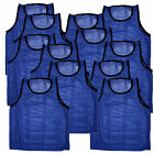 12 SCRIMMAGE VESTS PINNIES SOCCER ADULT BLUE ~BRAND NEW