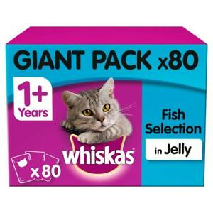 80-x-100g-Whiskas-1-Adult-Wet-Cat-Food-Pouches-Mixed-Fish-In-Jelly