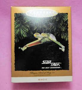 HALLMARK-STAR-TREK-TNG-1994-KLINGON-BIRD-OF-PREY-Christmas-ornament-NIB