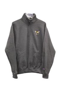 Champion American International College Dark Gray Quarter-Zip Sweater Size XS