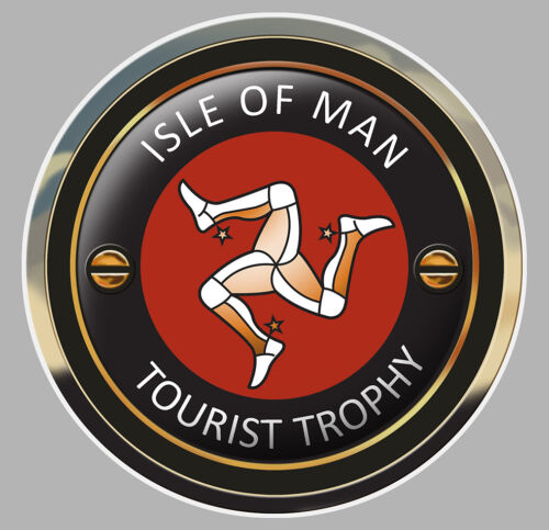 ISLE OF MAN TOURIST TROPHY TT ILE DE MAN BIKER STICKER RACING TRACK 16cm IA072