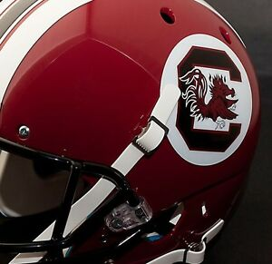 SOUTH CAROLINA GAMECOCKS Authentic FULL SIZE Football Helmet - Motorcycle helmet decals and stickers