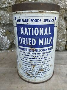 Collectable-Vintage-c1950-039-s-National-Dried-Milk-Service-Tin