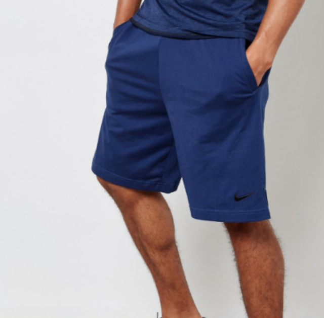 "Nike Men/'s Dri-FIT Cotton 9/"" Training Gym Shorts 842267-429 Navy Blue Black NWT!"
