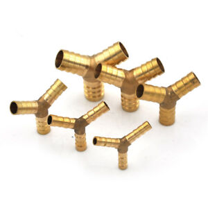 Brass-Barbed-034-Y-034-Splitter-Joiner-Connector-Pipe-Fitting-Air-Fuel-Hose-Cei-JF
