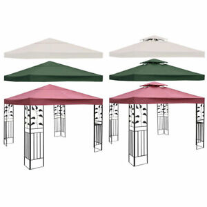 10-039-X-10-039-Gazebo-Top-Cover-Patio-Canopy-Replacement-1-Tier-or-2-Tier-3-Color-New