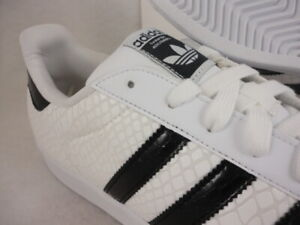 Details about ADIDAS SUPERSTAR SNAKE PACK D70171 FOOTWEAR WHITECORE BLACK GLOSSY PATENT