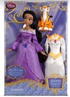 Disney Store Jasmine 11 1/2 Singing Doll & Costume Set Alladin Rajah 2013