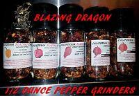 Carolina Reaper/ Moruga/ Butch T/ Scorpion/ghost Pepper/habanero Pepper Grinders