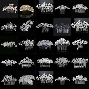 Pearl-Flower-Crystal-Hair-Pins-Clips-Bridesmaid-Side-Comb-Wedding-Bridal-Jewelry