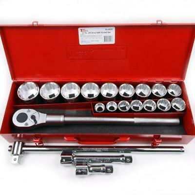 21Piece 3//4 Drive Chrome Socket Set 12Pt SAE Standard