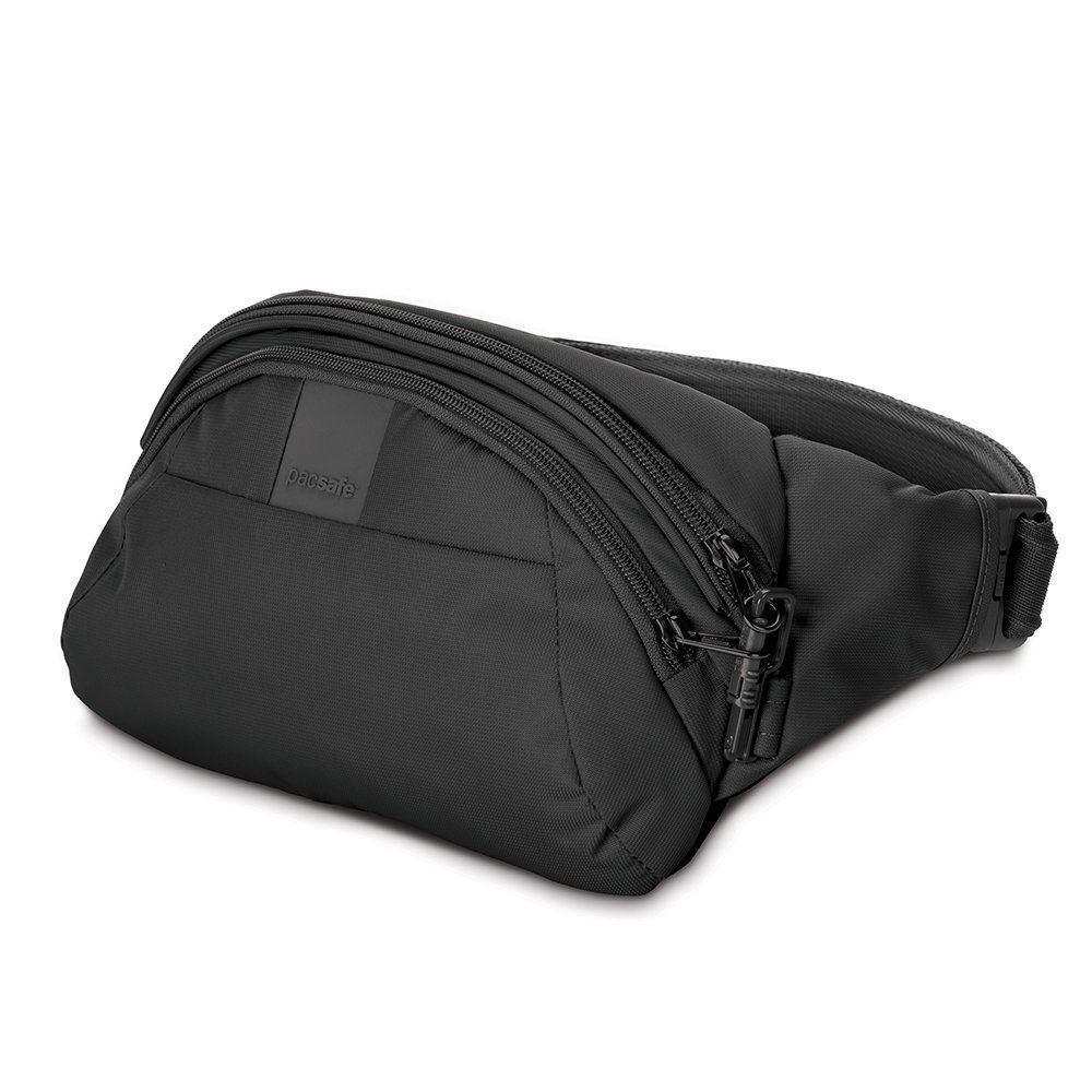 PACSAFE METrosaFE Anti-Theft LS120 Hip Bag Con Protezione Intelligente Cerniera-Nero