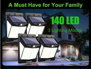 140-LED-Lumieres-solaires-Capteur-de-mouvement-Pour-lampe-murale-exterieure