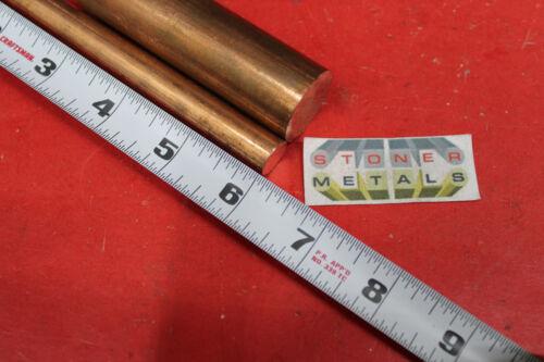 "1-1//2/"" Diameter C110 COPPER ROUND ROD 6/"" long H04 Solid CU New Lathe Bar Stock"